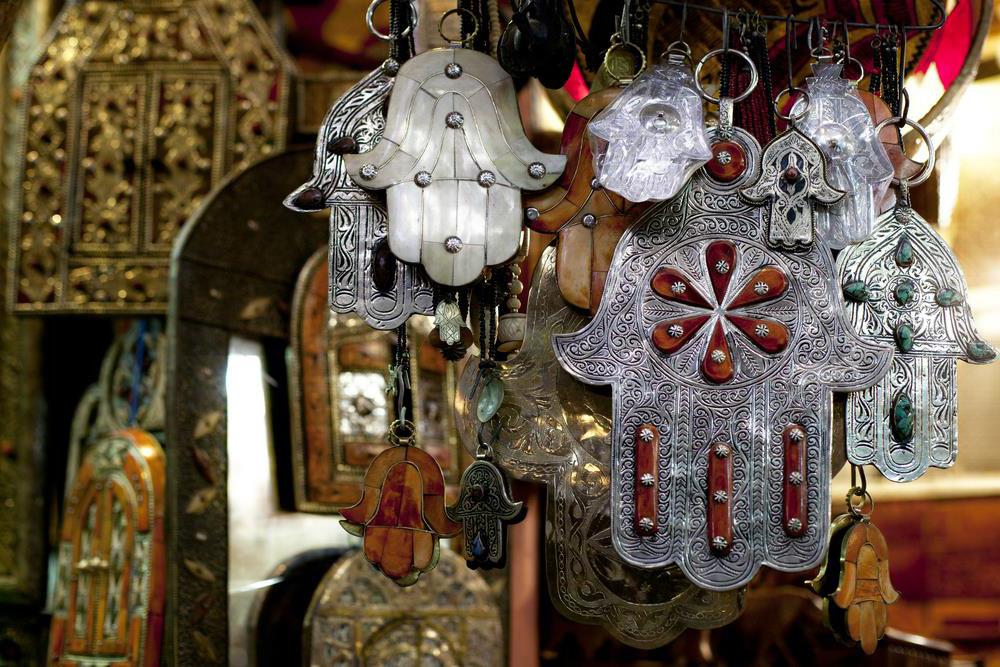 Jamsa en bazar de Marruecos