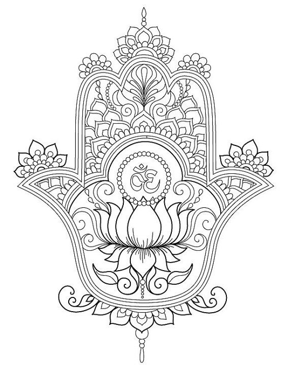 Hamsa Coloring Pages Sketch Coloring Page